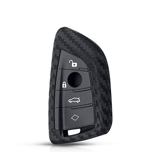 MENGGOO Caja Protectora de la Llave de Silicona de Fibra de Carbono Ajuste para BM W X1 X3 X4 x5 x6 F15 F16 F48 G30 G38 525 540 740 1 2 5 7 Serie 218i