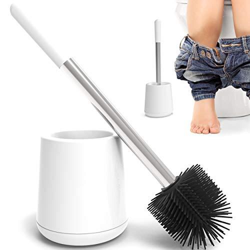 Premium WC Bürste Weiß aus TPR - inkl Ersatzbürstenkopf