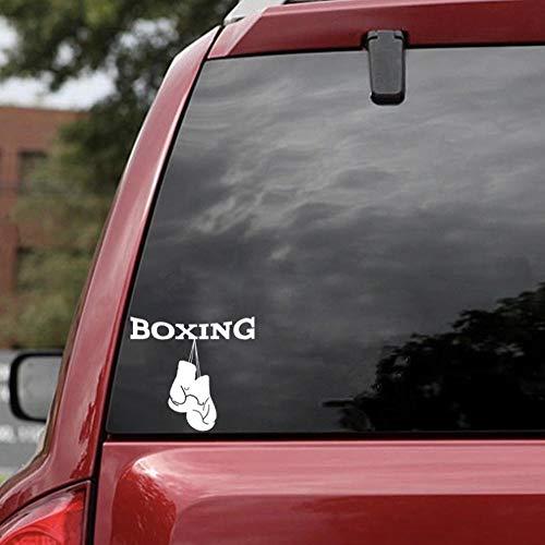 keyjiang 2PCS Einzigartige Boxhandschuhe Fitnessraumaufkleber Extremsportdekor Autoaufkleber Vinyl Silhouette A 14x13cm