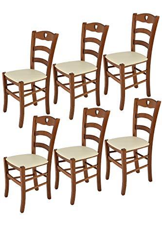 t m c s Tommychairs - Set 6 sillas Cuore para Cocina...
