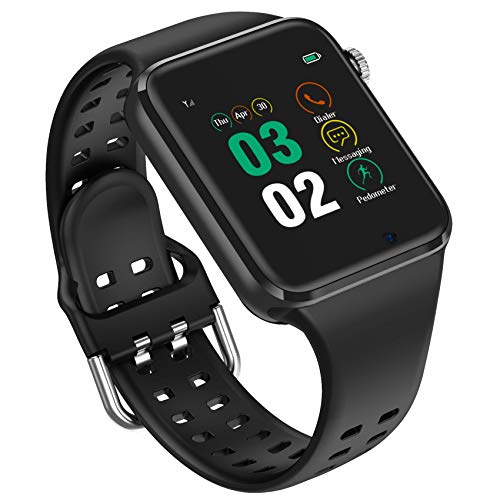 Smart Watch - 321OU Smart Watches for Android iPhone Compatible Samsung LG, Bluetooth Smartwatches Fitness Watch for Men Women Kids with SIM/SD Card Slot Camera Pedometer Support Clock Call/SMS (Black