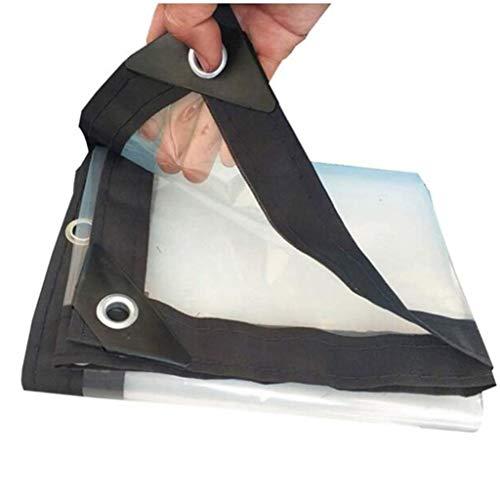 QI-CHE-YI Persenning, transparent wasserdichte Abdeckplane PE Staub- und regendichte Abdeckplane für Bodenmöbel,1x2m
