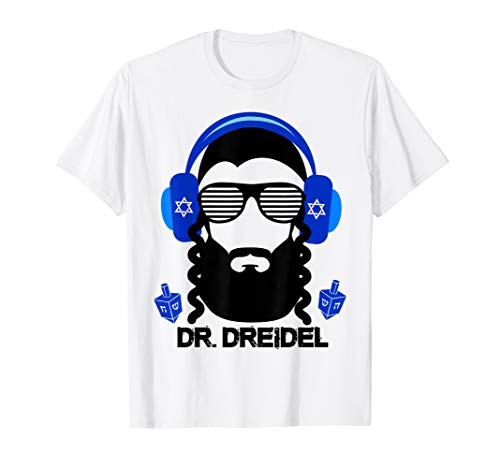 Funny Hanukkah Hebrew Rapper DJ Chanukah Dr. Dreidel Gift T-Shirt