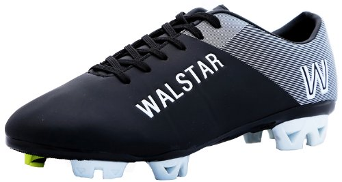 Manchester King Soccer Shoes, Cleat Black/White (8.5)