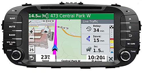 LINGJIE GPS-Navigation für Kia Soul 2013 2014 2015 2016 Doppel-DIN-Autoradio-Stereo IPS-Screen Multimedia-Player Spiegel Link-RDS DSP Carplay
