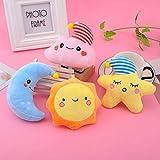 SweetGifts Stuffed Moon Star Cloud Sun Soft Plush Toys Ornaments Car Home Room Decorations Gifts 4 Pcs