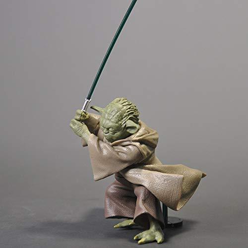 Action Figure 13cm Star Wars-Meister Yoda Nehmen Schwert Ausgabe Spielzeug-Sammlung Zeichentrickfigur Modell Statue Dekoration Auto-Hauptdekoration Kindergeburtstag Spielzeug A