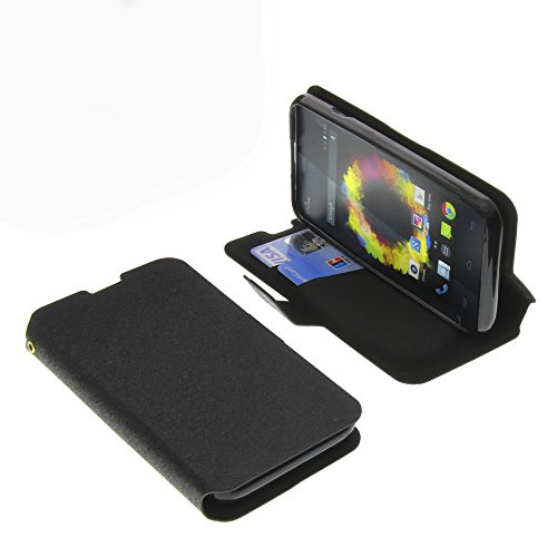 foto-kontor Tasche für Wiko Sunset 2 Book Style schwarz Schutz Hülle Buch