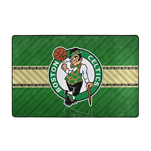 Dopy Boston Basketball Fans Large Area Rugs for Living Room Bedroom Kids Area Rugs Baby Rugs for Play Area Rugs 3'3''x5' Ft Under 50