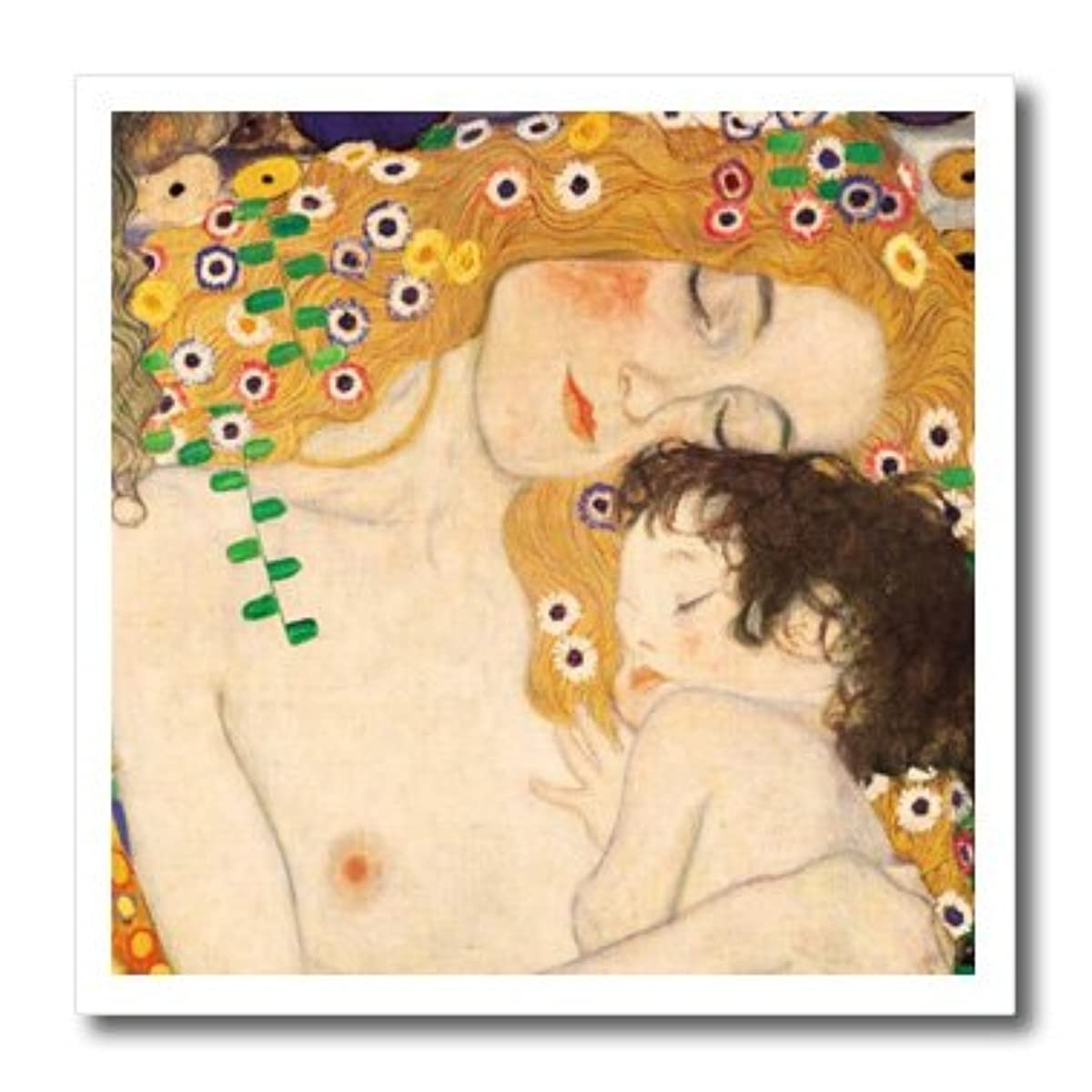 3dRose ht_157653_3 Mother & Child by Gustav Klimt 1905 Detail from The Three Ages of Woman Mom & Baby Love Iron on Heat Transfer, 10 by 10