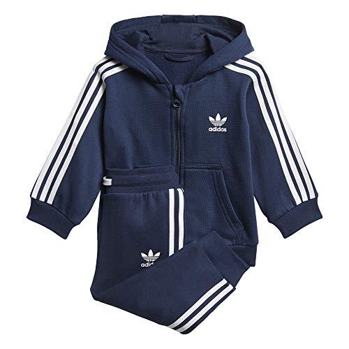 Adidas I W TRF FZ Hood–Tuta, Unisex bambini, Blu (Maruni/bianco), 3 - 4 anni