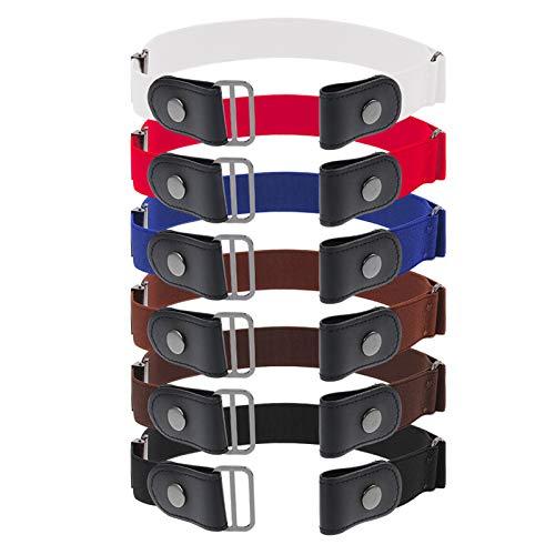 Firtink 6 Stücke Gürtel Unisex Keine Schnalle Stretch Gürtel Elastischer Unsichtbare Dehnbarer Gürtel Die Stretchgürtel