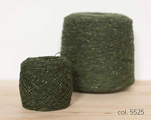 Knoll Soft Donegal Tweed, Merino Wool Green / 100% Merino Wolle Grün (5525), 100g