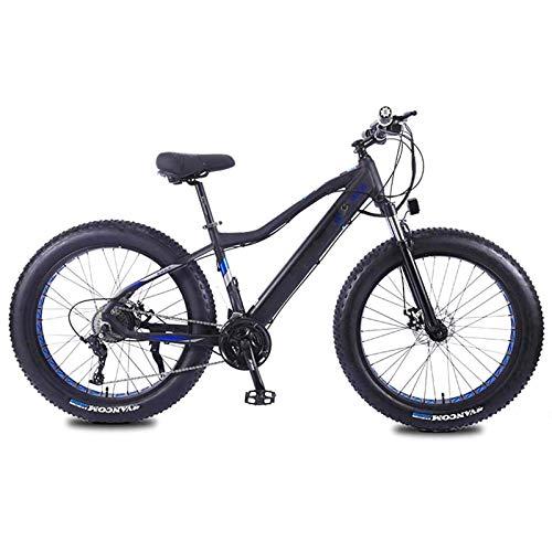 Mountain bike elettrica, BICICLETA DE MONTAÑA ELÉCTRICA Pneumatico Fasce PARA Adultos, Bicicletas de Nieve 36V 10Ah Li-Batteria 350W, Bicicleta de Playa de Aleación de Aluminio de 27 Velocidades, Rued