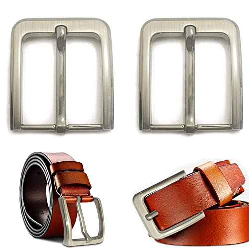 inherited 2pcs Fibbia per Cintura, fibbia ad ardiglione per cintura in pelle da uomo, in acciaio inossidabile 304, adatto per staccabili snap fit cinghie fino a 38mm - 40mm di larghezza
