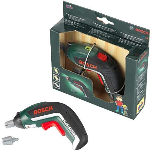 Theo Klein 8300 Bosch Ixolino I Batteriebetriebener Akkuschrauber mit Licht und Sound I Auswechselbare Aufsätze I Maße: 12,5 cm x 4 cm 9 cm I Spielzeug für Kinder ab 3 Jahren