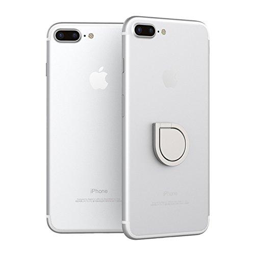 360° drehbarer Smartphone Fingerhalter (Silber) - 3