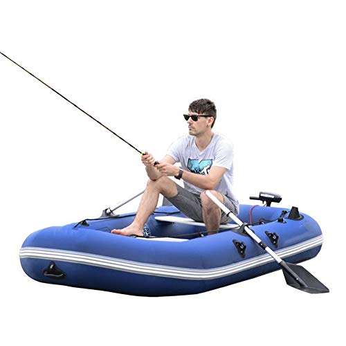 Kayak gonfiabili Kayak Outdoor Gommone 3 Persona Parte Inferiore Dura Ispessita Assault Peschereccio gommone Gommone per Outdoor Rafting (Colore : Blue, Size : 265x134cm)