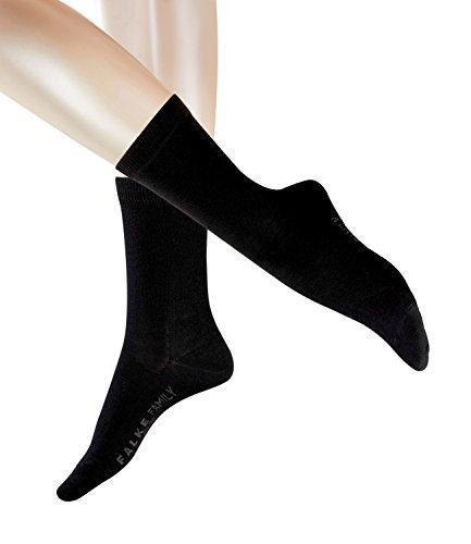 FALKE Damen Family Socken 47675 6 Paar, Farbe:Schwarz, Größe:39-42, Artikel:-3009 black