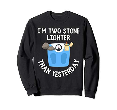 I Am Two Stone Feuerzeug Lustige Weight Loss Diät-Wortspiel Sweatshirt