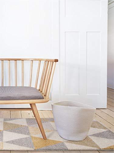 benuta Alfombra Pastel Geomet | Moderna Alfombra para salón y Dormitorio, Fibra sintética, Amarillo, 160 x 230 cm