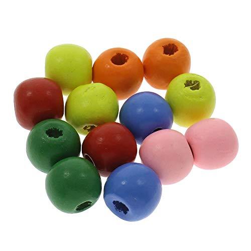 Perlas Perlas Madera Multicolor Wooded Beads 10mm