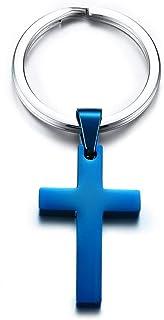 VNOX Personnalisé Bible Verse Foi Croix Prière Porte-clés Porte-clés Porte-clés pour Hommes Femmes, Cadeau Religieux en Ac...
