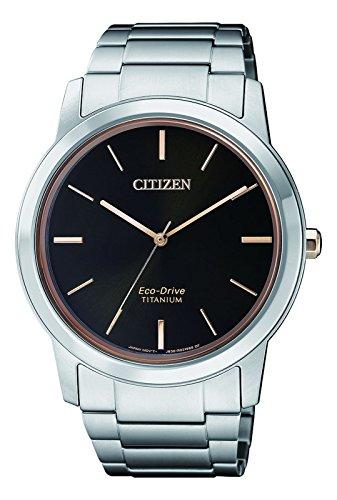 Citizen Herren Chronograph Solar Uhr mit Titan Armband AW2024-81E