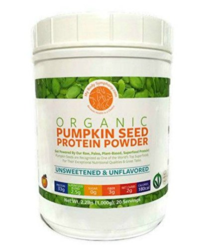Organic Pumpkin Seed Protein Powder: The World's Best Tasting & Most Complete Plant-Based Protein Powder; Vegan, Paleo -20 Servings Unsweetened Unflavored - 2.2 lbs.