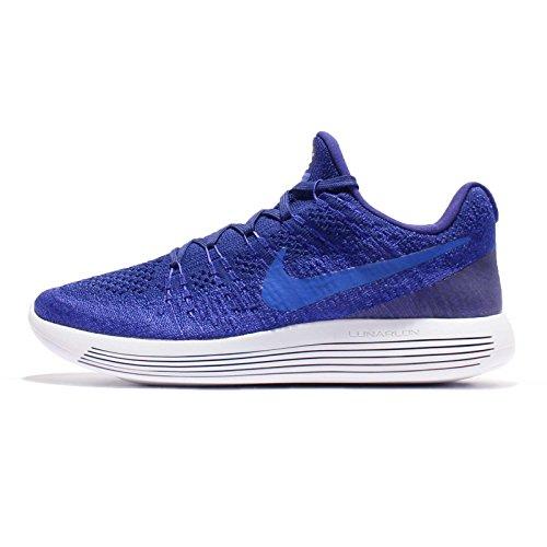 Nike Mens Lunarepic Low Flyknit 2, DEEP ROYAL BLUE/MEDIUM BLUE, 7 M US