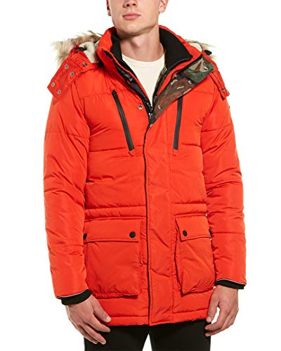 Superdry Men's SD Expedition Parka (Small, Blood Orange)
