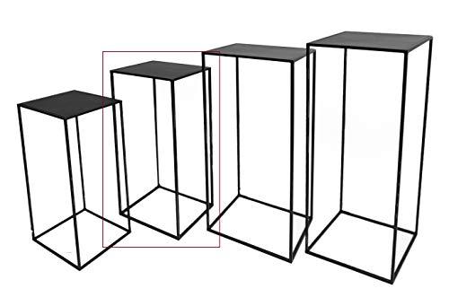 Hoher Beistelltisch schwarz Metall Telefontisch Pflanzentisch Blumentisch Tisch (25 x 25 x 60 cm)