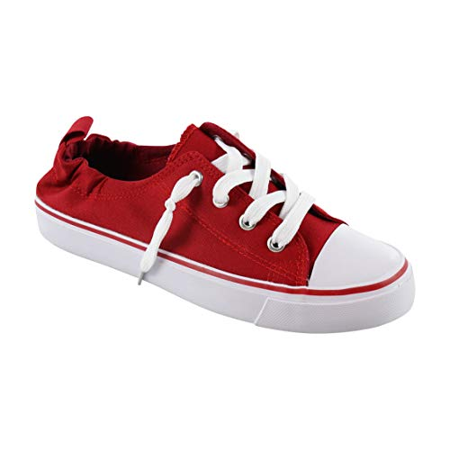 Twisted Fashion Sneakers for Women, Red, 6.5