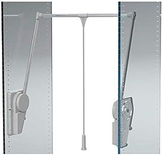 Élévateur de penderie double à charge réglable - Charge maxi : 20 kg - Charge mini : 14 kg - Décor : Gris alu - Décor tube...