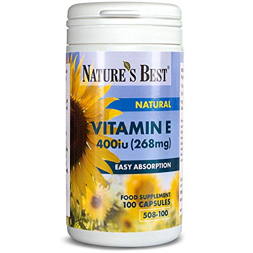 Vitamin E 400iu - The Gold Standard - 100 Vegan Capsules – Naturally Sourced & UK Made – Supports Cardiovascular Health – Great Value