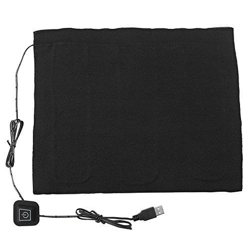 Almohadilla térmica USB, Calentador eléctrico de calentador de tela eléctrico DC 5V 3-Shift para cuello, espalda, abdomen, calefacción lumbar y calentador para mascotas, hecho de fibra de carbono