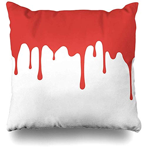 Throw Pillow Covers Orchid Pink Ink Red Paint Dripping Blood Flows Abstract Border Drip Orange Drop Liquid Shape Spray Home Decor Cushion Case 45X45Cm Sofa Pillowcase