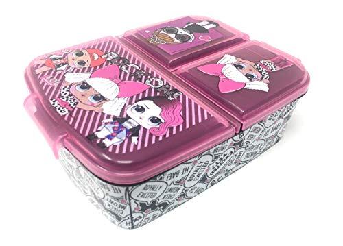 Kinder Brotdose / Lunchbox / Sandwichbox wählbar: Frozen PJ Masks Spiderman Avengers - Mickey – Paw aus Kunststoff BPA frei - tolles Geschenk für Kinder (LOL L.O.L.)
