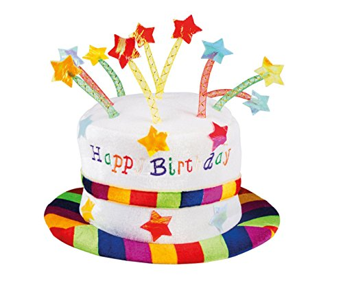 Boland 00932 Hut Regenbogen Kuchen Happy Birthday, unisex-adult, One Size