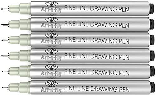 Pennarelli Punta Fine Fineliner a Inchiostro Nero da Disegno Penne per Disegnare Redazione Manga Penne per Scrittura