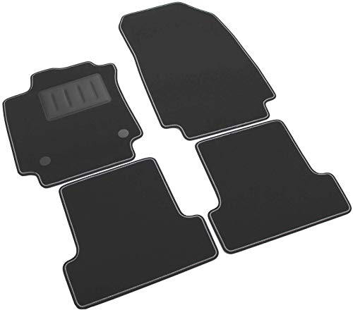SPRINT03704 Alfombrillas de coche a medida en moqueta antideslizante negra