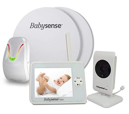 NEU BABYSENSE SET V35 Babyphone mit Sensormatten und Kamera: Babysense Video V35 Babyphone + Bewegung & Atmungsüberwachung