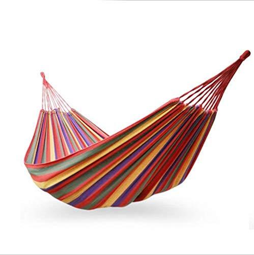 Ugetde Nieuwe Parachute Doek Outdoor Camping Hangmat Draagbare Verdikking Band Haak Vrije tijd Reizen Swing Outdoor Camping Enkel Dubbele Outdoor Camping Hangmat met Boomriemen en Karabijnhaken