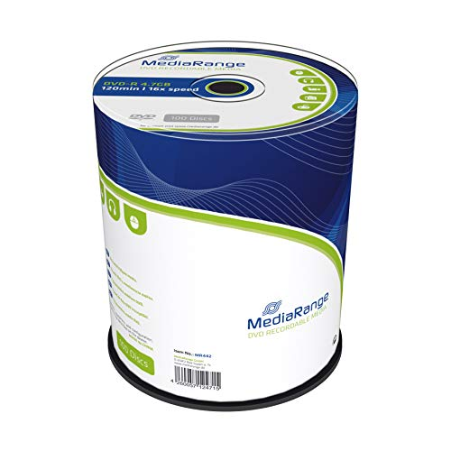 MediaRange DVD-R 4.7Gb|120Min 16x Speed, Cake 100