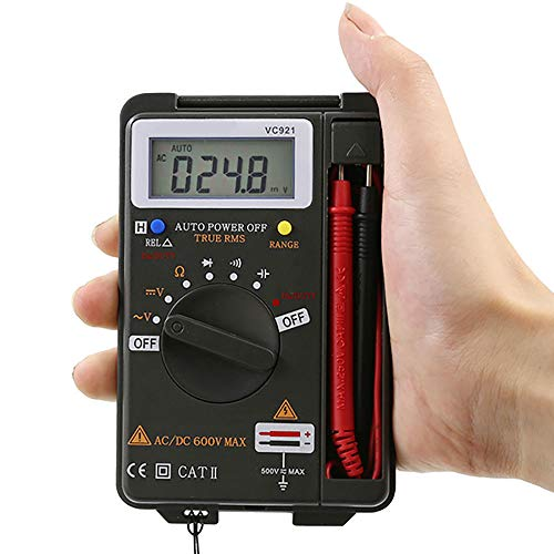 LSSLSS Digitalmultimeter HochpräZises Digitalanzeigen-Multimeter Tragbares Multimeter Mit 2 × AAA-Batterien