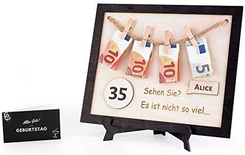 Prezent urodzinowy dla kobiet i mężczyzn, spersonalizowane prezenty na 18/50/40/30 urodziny, zabawne pomysły na prezent, prezenty pieniężne z kartą z życzeniami I Podarowanie pieniędzy, opakowanie na prezenty pieniężne