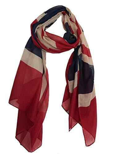 Beige mit roten und blauen Union Jack Design Big Schal, ideal für jedes Outfit, schönes Geschenk(Beige with red and Blue Union Jack Design Big Scarf, Great for Any Outfit, Lovely Gift)