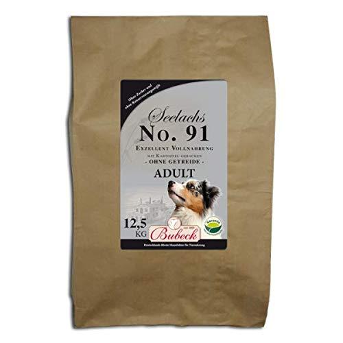seit 1893 Bubeck Trockenfutter für Hunde | mit Seelachs 12,5 Kg | getreidefreies Hundefutter | für futtersensible Hunde geeignet | besonders gut verträglich | gebackenes Hundefutter