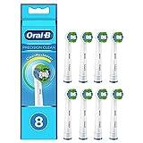 Oral-B Precision Clean Cabezales de Recambio, Pack de 8 Recambios Originales con Tecnología CleanMaximiser para Cepillos de Dientes Eléctricos