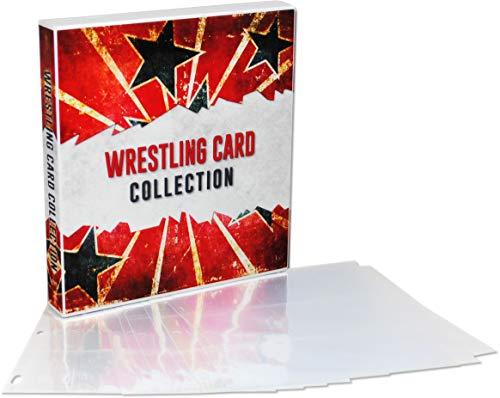 UniKeep WWE Wrestlemania Themed Collectible Card Storage Binder, 450 Card Capacity (Stars)